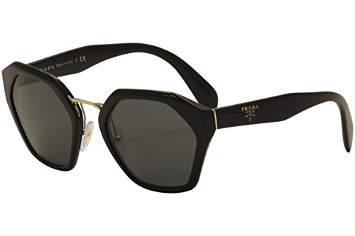 Prada Round Sunglasses, Black, 55mm