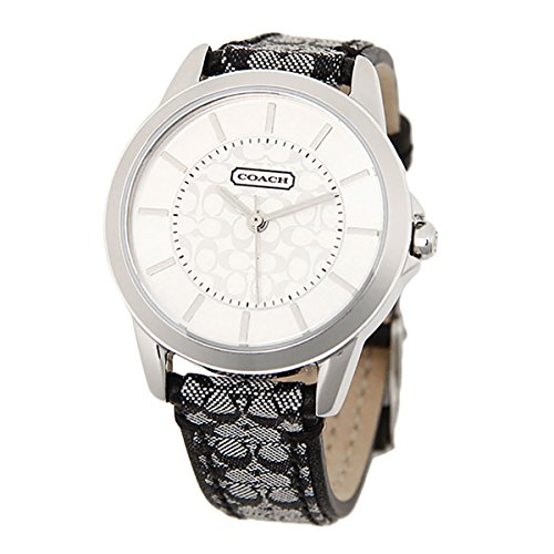COACH Women's Classic Signature Strap Watch Silver/Black One Size