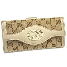 Gucci Original Gg Continental Wallet Beige Off White Box