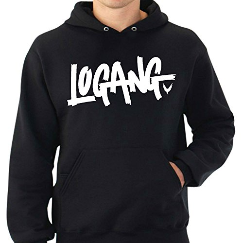 Logang Logan Paul Maverick Adult Hoodies (Small, Black)