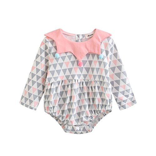 Baywell Cute Baby Romper, Infant Triangle Pattern Star Collar Jumpsuit