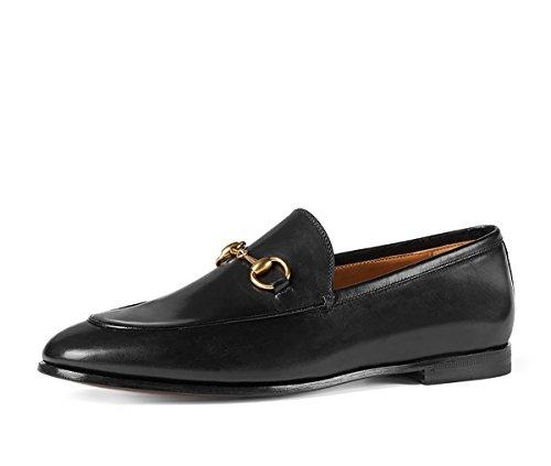 Gucci Men's Jordaan Horsebit Loafer, Black (Nero) (10 US/9.5 UK)