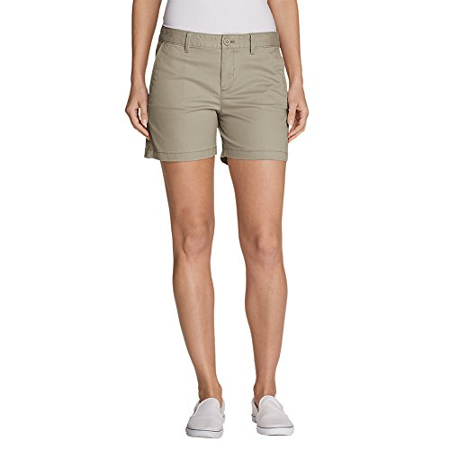 "Eddie Bauer Women's Willit Legend Wash Stretch Shorts - 5"", Cloud Regular 6"