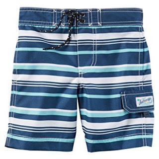 Carter's Little Boys' Swim Trunks (3T, Light Blue Stripe)
