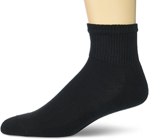 Gildan Men's Stretch Cotton Ankle Socks, 12-Pack, Black, Shoe Size: 6-12