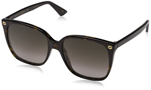 Gucci Women Design Sunglasses Havana Brown Gold With Dark lens