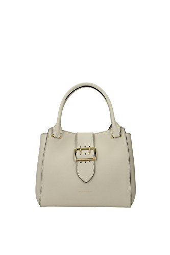 Burberry Ivory Leather Buckle Handbag