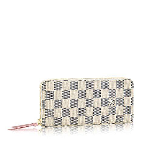Louis Vuitton Damier Azur Canvas Rose Ballerine Clemence Wallet