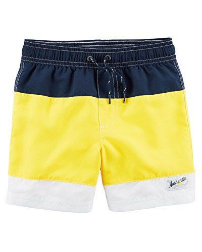 Carter's Boys' Swim Trunks (6, Navy/Yellow)