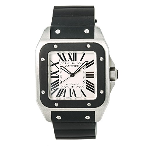 Cartier Santos 100 Swiss-Automatic Male Watch W20121U2 (Certified Pre-Owned)