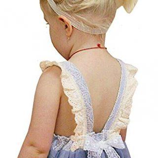 2Bunnies Girl Vintage Lace Bib Tulle Tutu Bow Eyelet Princess Party Dress (5, Gray)