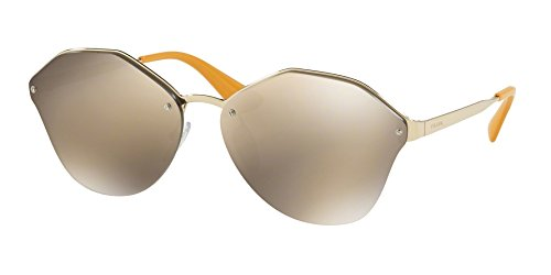 Prada Women's Pale Gold/Light Brown Mirror Gold Sunglasses