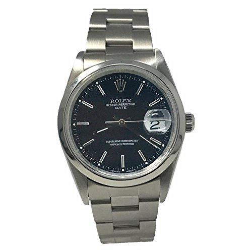 Rolex Date Swiss-Automatic Male Watch (Certified Pre-Owned)