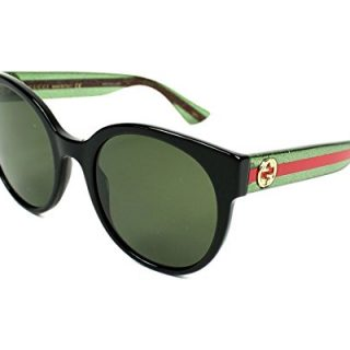 Gucci Women Black/Green Sunglasses 54mm