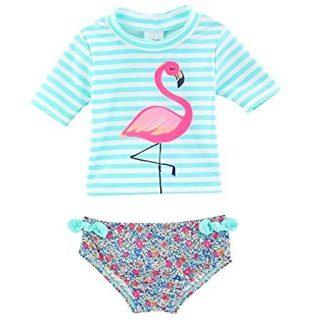 Carter's Baby Girls' Flamingo Rashguard Swimsuit Set 12 Months