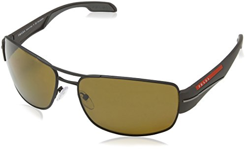 Prada Linea Rossa Men's Brown Sunglasses