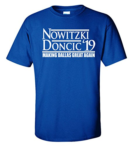 "WB SHIRTS Blue Dallas Dirk Doncic 19"" T-Shirt Adult"