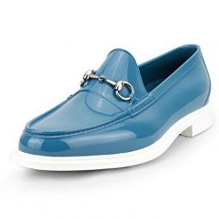 Gucci Men's Rubber Horsebit Loafer, Blue(9.5 US/9 UK)