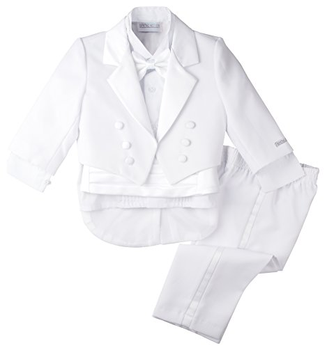 Spring Notion Baby Boys' White Classic Tuxedo with Tail Large/12-18 Months
