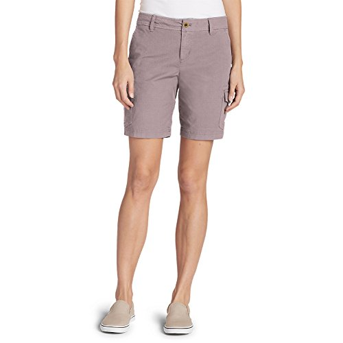 Eddie Bauer Women's Adventurer Stretch Ripstop Cargo Shorts - Slightly Curvy, P,8,Primrose (Purple)