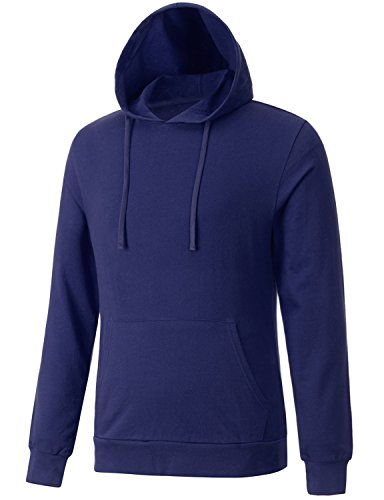 Regna X Mens Super Soft Jersey Hoodies Navy S