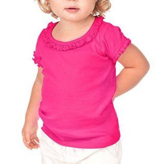 Kavio! Infants Sunflower Short Sleeve Top, Hot Pink, 18 Months