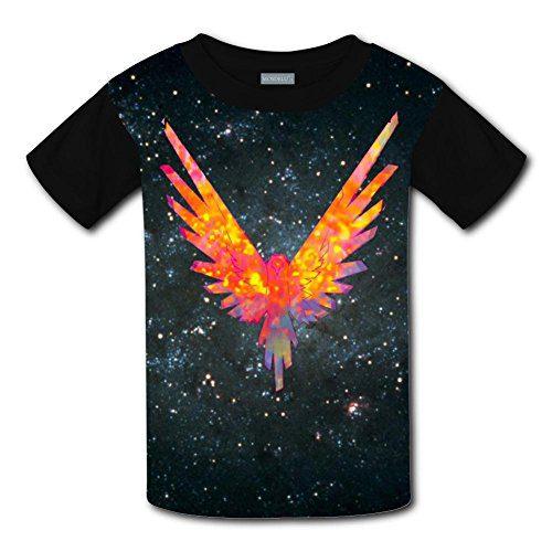 XiuHongShangMAo Unisex Kids Logan Paul Be A Maverick 3D Printed Round Collar Short Sleeve T- Shirt