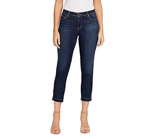 Bandolino Women's Lisbeth Curvy Skinny Crop Jean, Acadia Snap Hem, 10