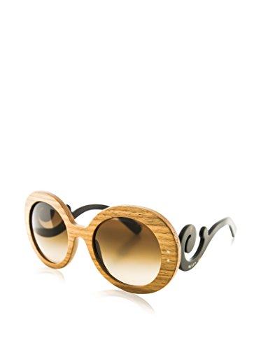Prada Canaletto Walnut 27RS Raw Round Sunglasses Lens Category 3