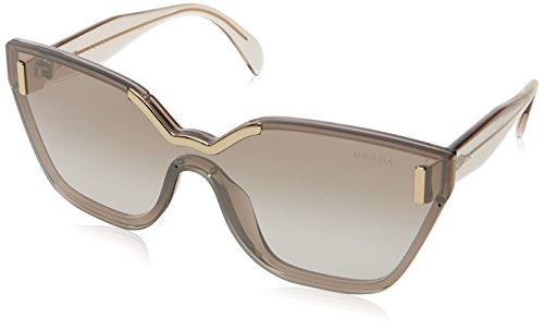 Prada Women's Light Brown/Gradient Brown Mirror Silver One Size