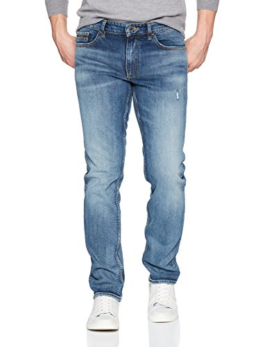Calvin Klein Jeans Men's Slim Fit Denim Jean, Ludlow Blue, 34W 32L
