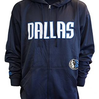 Majestic Mens Dallas Mavericks Delay Full Zip Poly Fleece Hoodie, 3XL