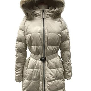 Coach Women's Legacy Down Puffer Long Jacket Coat (XLarge, Salt)