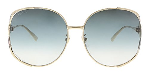 Gucci sunglasses Gold - Blue - Blue Grey Gradient lenses