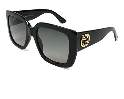 Gucci Black Square Sunglasses Lens Category 2 Size 53mm