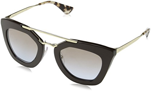 Prada Women's Sunglasses Brown / Light Blue Grad Light Brown 49mm