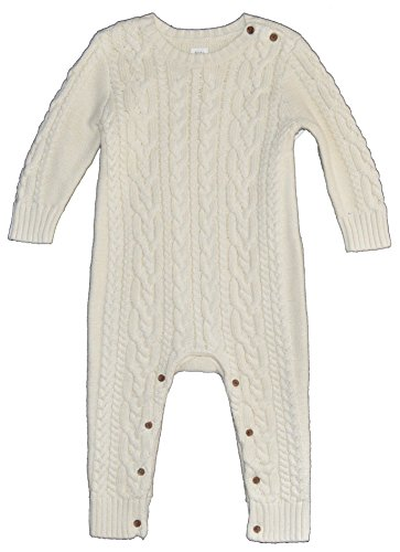 BabyGap Baby Gap Ivory Cableknit Sweater Romper 12-18 Months