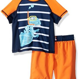 Baby Buns Baby Boys Two Piece snorkle Friends Rashguard Swimsuit Set, Multi, 24M