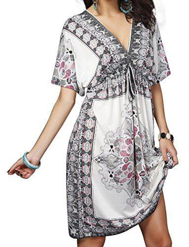 Aixy Cover up Beach Dresses for Swimwear Bikini Beach Wear Womens Girls (White ACOY007-W1)