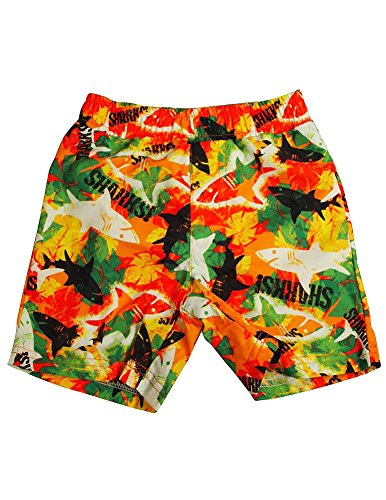 Bunz Kidz - Baby Boys Sharks Swimsuit, Orange, Multi 34998-24Months