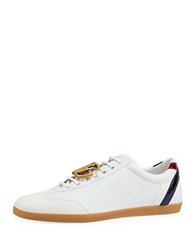 Gucci Men's Bambi GG Leather Low-Top Sneaker, White (12 US/11.5 UK)