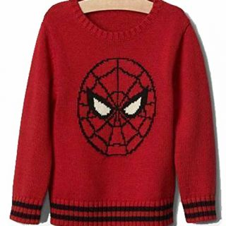 Baby Gap Boys Red Spiderman Crew Sweater 12-18 Months