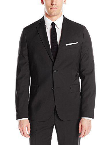 J.Lindeberg Men's Hopper Soft Comfort Wool Jacket, Black, 54