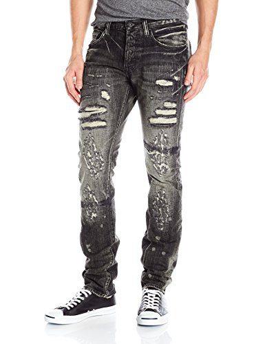 PRPS Goods & Co. Men's Demon Slim Fit Jean, Rip Black, 33