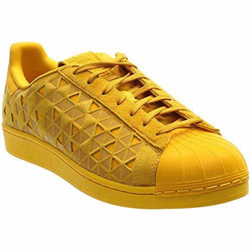 adidas Originals Men's Superstar Fashion Sneaker, Bold Gold/Bold Gold/Bold Gold, 10 M US