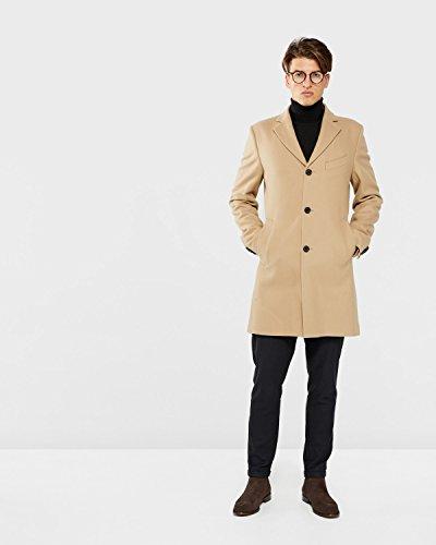 J.Lindeberg Men's Wolger Compact Melton Coat, Sand, 52