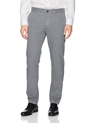 J.Lindeberg Men's Chaze Flannel Pant, Grey Melange, 36/32