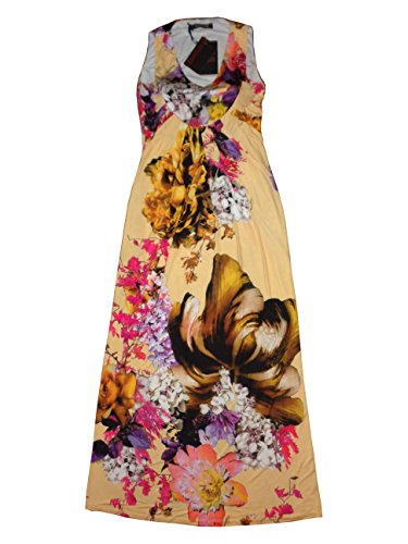 Roberto Cavalli Women's Long Dress Without Sleeves Large Multicolor