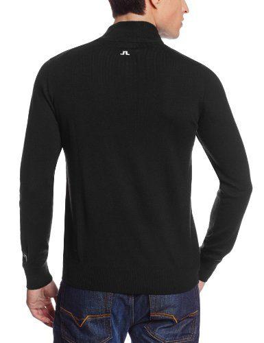 J.Lindeberg Mens Merino Half Zip Sweater
