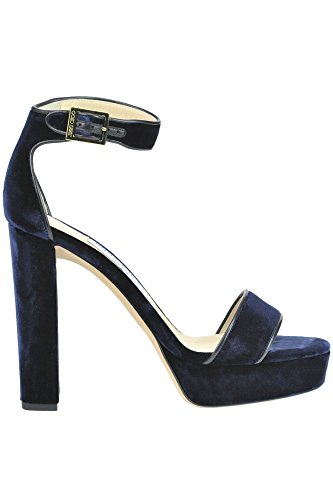 JIMMY CHOO Women's Mcglcate Blue Velvet Sandals